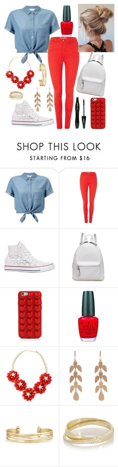 """Untitled #282"" by bballgirl9 ❤ liked on Polyvore featuring Miss Selfridge, BlendShe, Converse, Lancôme, Marc Jacobs, OPI, Irene Neuwirth, Stella & Dot and Inez & Vinoodh"