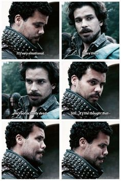 Aramis and porthos at Athos's fake funeral...
