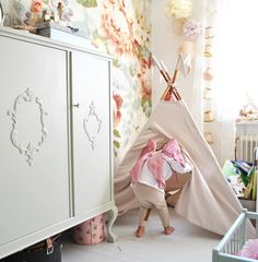 Lovely! Numero74 Teepee in powder and rose fairy wings