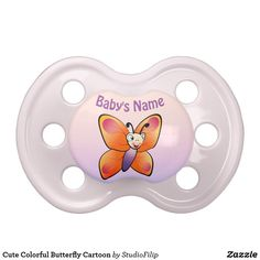Cute Colorful Butterfly Cartoon Pacifier