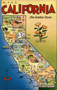 California - The Golden State Maps