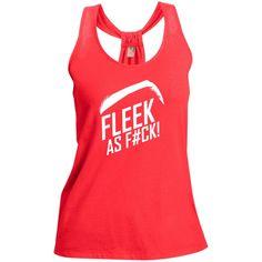 Ladies Fleek As F#ck Shimmer Loop Back Tank Top