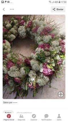 Heart Wreaths x www. Aesthetic Roses, Aesthetic Drawing, Aesthetic Vintage, Diy Wreath, Door Wreaths, Diy Christmas Ornaments, Christmas Decorations, Heart Wreath, Flower Quotes