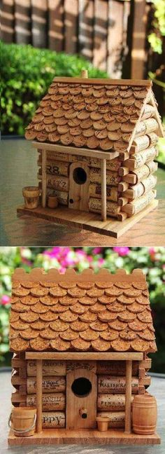 DIY Craft Project: Wine Cork House is the cutest craft project!
