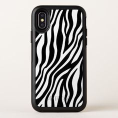 Zebra Print Black And White Stripes Pattern OtterBox Symmetry iPhone X Case - chic design idea diy elegant beautiful stylish modern exclusive trendy