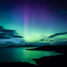 Northern Lights Over Harris | Fine Art Photography Print | Dudley Williams - buy the sea