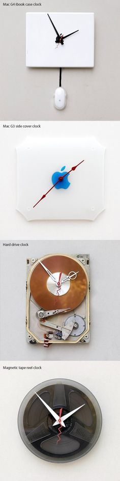 Geeky Dekor Zubehörteile Zu Händen - Home Sweet Home Home Decor Accessories, Tech Accessories, Decorative Accessories, The Finest Hours, Tick Tock Clock, Geek Cave, Unique Clocks, Diy Clock, Recipes From Heaven