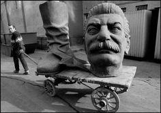 BUDAPEST, Hungary—A dismantled statue of Stalin, 1990.Ferdinando Scianna / Magnum Photos