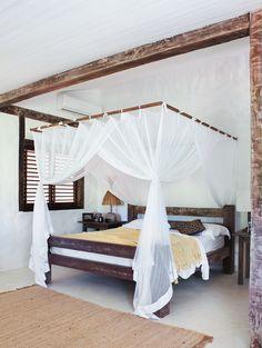 a rustic beach house in bahia brazil by the style files - Beach Style Canopy Ideas