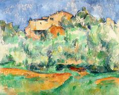 Titre de l'image : Paul Cézanne - The House at Bellevue, 1888-92