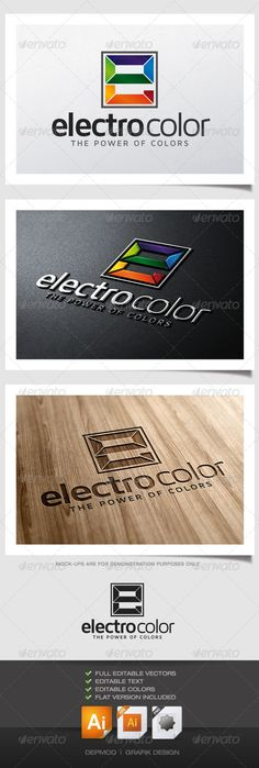 Electro Color Logo (Letters)