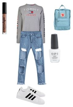 """Lejer set"" by davidmihaela on Polyvore featuring Tommy Hilfiger, adidas, Fjällräven and Charlotte Russe"