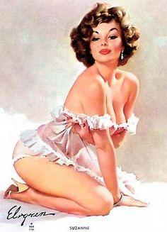 Shell Game Vintage Gil Elvgren Pinup Girl Poster