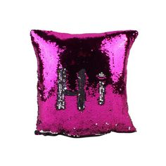 Creative Writing Double Glitter Sequins Color Cotton Pillow Case Home Office Pillowcase 400 * 400 * 5mm