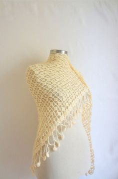 wedding shawl  Ivory Fashion Shawl salebridesmaid by modelknitting