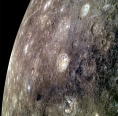 Mercury - the closest planet to the Sun... heavily-cratered.  The side facing the Sun is enough to melt lead, and the size facing away from the Sun is hundreds of degrees below freezing... and it does not rotate.  This is a planet of extremes.