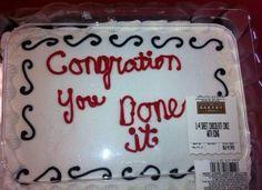 My wedding cake, probably.