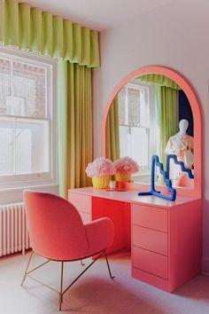 Room Ideas Bedroom, Bedroom Decor, Quirky Bedroom, Bedroom Shelves, Bedroom Signs, Pastel Room, Aesthetic Room Decor, Home Interior, Retro Interior Design