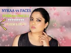 Nykaa vs Faces Eyebrow Pencil | Review & Demo | Indian Drugstore Eyebrow...
