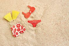 Bathing suits on the beach Stock Image