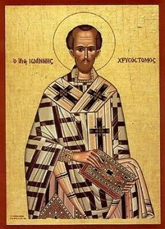 John Chrysostom, the Golden Trumpet of Orthodoxy Saint John, Figueras, John Chrysostom, St Basil's, Byzantine Art, Byzantine Icons, Johannes, Orthodox Christianity, Early Christian