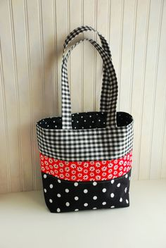 Patchwork Tote Bag - too cute