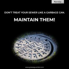Maintaining your sewage system can help you keep the business flow smooth and more efficient. Install Grease Guardian grease trap to handle sewage system. Sewage System, Pro Tip, Garbage Can, Grease, Kitchen Sink, Flow, How To Remove, Smooth, Handle