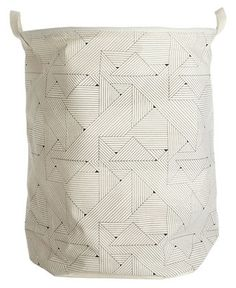 Corbeille à linge Triangular /Ø 40 x H 50 cm Motifs triangles - House Doctor - Décoration et mobilier design avec Made in Design