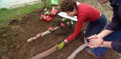 Watch this video for an easy DIY tip that can help hold plants in place and reduce erosion on a steep hillside using old panty hose.