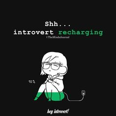 I'm charging slower and slower these days. Introvert Vs Extrovert, Introvert Love, Introvert Personality, Introvert Quotes, Introvert Problems, Infp, Introvert Funny, Personality Types, Colleges For Psychology
