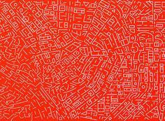 """L'artiste chinois Lu Xinjian réalise ces peintures abstraites à partir de vues aériennes de Google Earth. Cette série est intitulée """"City DNA""""."""