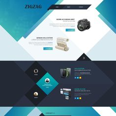 ZigZag uses diagonal background layers to make attractive design. ZigZag is suitable for websites with minimal contents.
