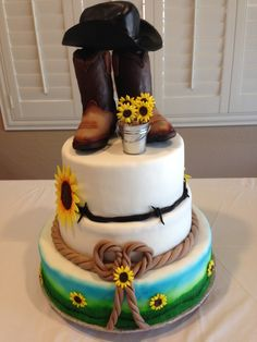 fascinating   Pretty Western Wedding Cakes