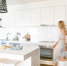 We'll never tire of blue and white in a crisp kitchen 💙 Accessories are such a simple way of changing up your home styling. Have a look through our Community Page for simple styling tips and sign up to receive 10% off your entire first order with us x Link in the bio 💫 Dream kitchen at @saltbeachhouse22 🥰 Crisp Kitchen, Kitchen Accessories, Simple Way, Styling Tips, Coastal, Blue And White, Houses, Community, Sign
