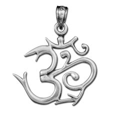 This beautiful 925 sterling silver Om pendant will be a wonderful addition to your sterling silver jewelry pendant collection. The Om is a sacred and a mystical meditation symbol in many religions, specifically Hinduism, Jainism and Buddhism. All additional combined purchase items ship for Free!  Approximate pendant size: .8″ (20mm) x .7″ (18mm)