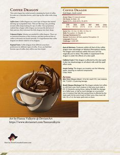 I forgot to publish the Coffee Dragon I made! Dnd Dragons, Dungeons And Dragons Characters, D&d Dungeons And Dragons, Dnd Characters, Dnd Stats, Dungeon Master's Guide, Dnd Funny, Dnd 5e Homebrew, Dragon Games
