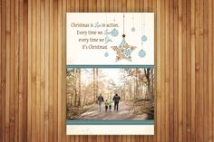 """Send Holiday Greeting in style!  custom design 5"""" x 7"""" flat photo card"""