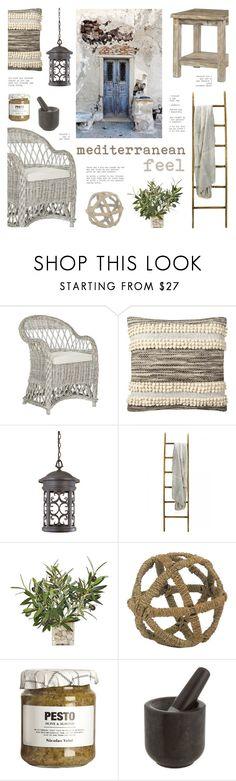 """Mediterranean Feel"" by c-silla ❤ liked on Polyvore featuring interior, interiors, interior design, home, home decor, interior decorating, Safavieh, Chatham, Nate Berkus and Designers Fountain"