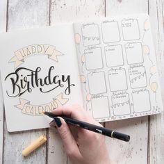 Geburtstags Tracker für Dein Bulletjournal