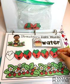 Sight Words Activities for Kindergarten - Interactive Binder #sightwords #kindergartenworksheets #kindergartensightwords #planningplaytime