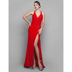 vaina / columna vestido de georgette de la tarde en tren tribunal v-cuello – CLP $ 54.381