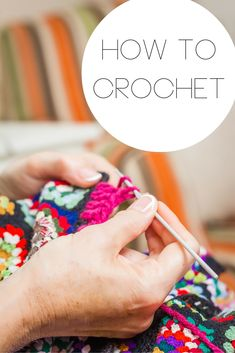 Learn how to crochet with these great tutorials! If you have ever wanted to learn this craft. this post is for you! Knit Or Crochet, Learn To Crochet, Crochet Crafts, Yarn Crafts, Crochet Stitches, Crochet Projects, Sewing Crafts, Sewing Projects, Crochet Patterns