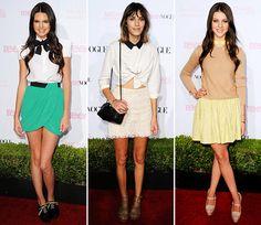 Kendall Jenner, Alexa Chung and Nicola Peltz.
