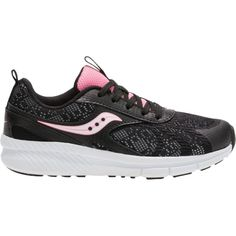 Saucony Kids' Preschool Velocity Running Shoes, Girl's, Black