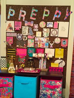Preppy Lilly Pulitzer room decorations