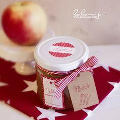 kukuwaja: Freebie appelmoes recept etiket en label