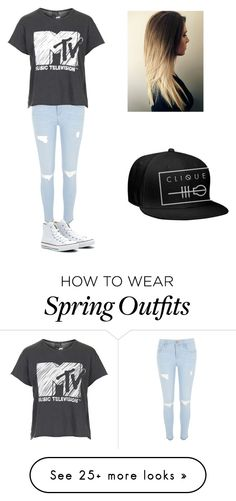 """""""Spring Outfit #1"""" by randilauderdale on Polyvore featuring River Island, Topshop and Converse"""