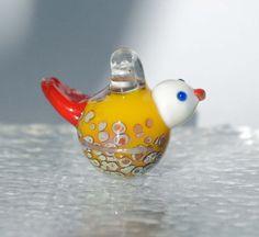 Little bird borosilicate glasspendant Boro 28 by leveloindigo