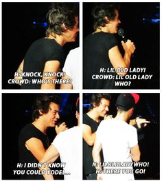 knock knock joke haha Harreh! He's got some good ones!! Actually not really! :p