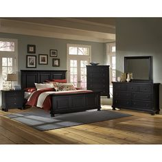 bedroom suite.   Like this too.  Fan of black